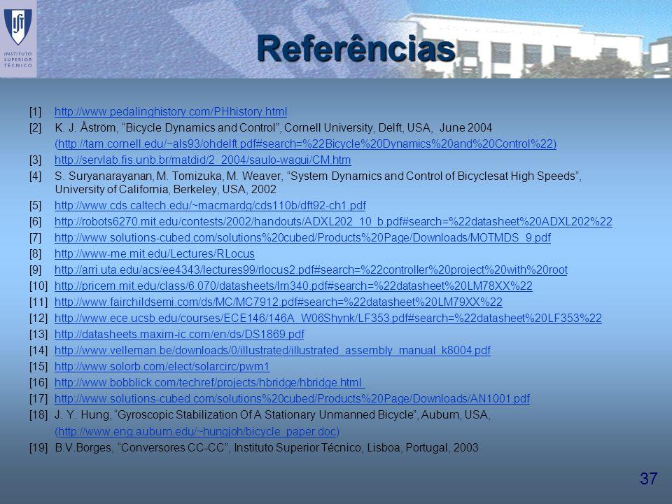Referências [1] http://www.pedalinghistory.com/PHhistory.html